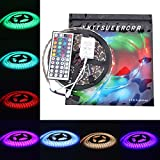 5M 16.4Ft RGB 5050SMD 300LED Waterproof Flexible LED Light Strip lamp + 44Key IR Remote