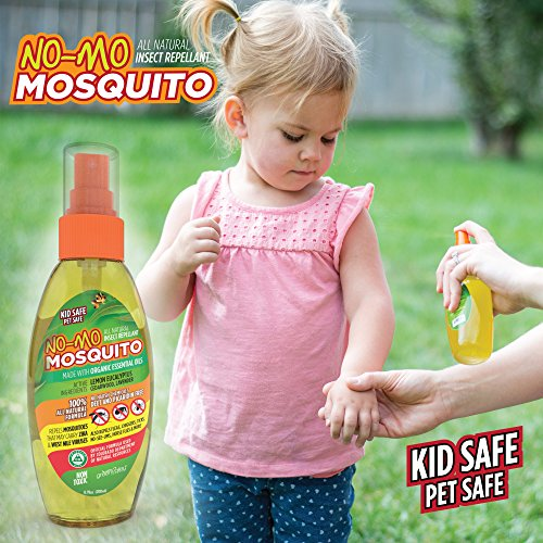 No-Mo Mosquito Repellent - Keep Your Family Safe From Harmful Bugs & Harsh Chemicals - Kid & Pet Safe - All Natural - NO DEET or PICARDIN - Repels Ticks - Fleas - No-See-Ums and More! Spray or Wipe (Best Yet Bug Spray compare prices)