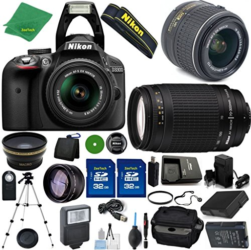 Great Deal! Nikon D3300 24.2 MP CMOS Digital SLR, NIKKOR 18-55mm f/3.5-5.6 Auto Focus-S DX VR, Nikon...