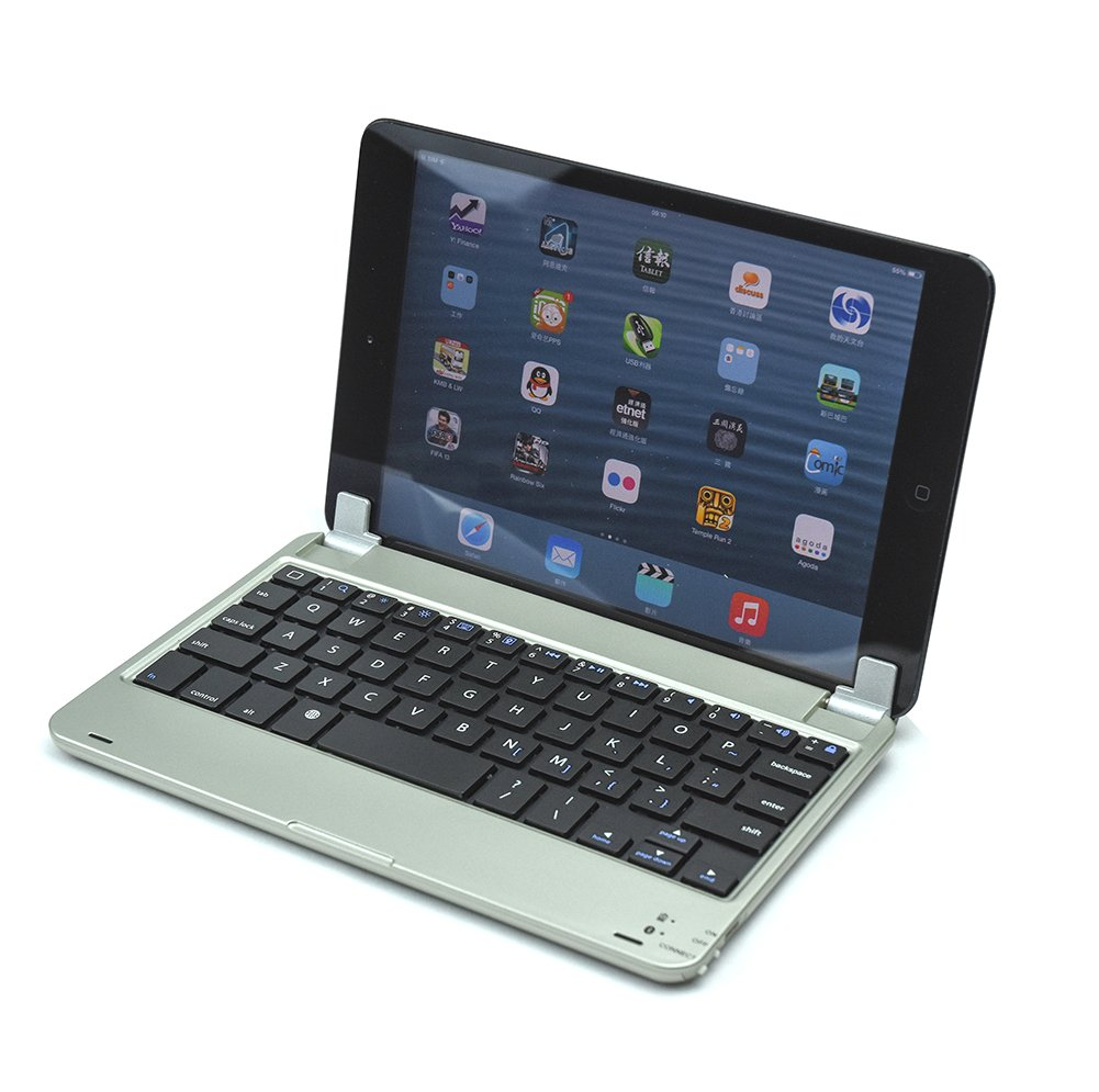bluetooth ipad mini qwerty tastatur tasche case h lle f r apple ipad mini 1 2 3 ebay. Black Bedroom Furniture Sets. Home Design Ideas