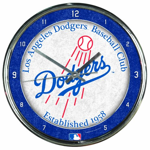 MLB Los Angeles Dodgers Chrome Clock