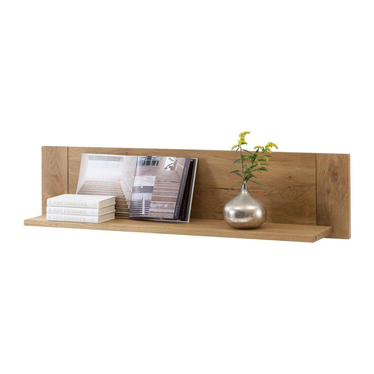 Wandregal Wandboard Bücherregal Regal Arklönd, Massivholz Holz Wildeiche massiv geölt, Breite 192 cm, Tiefe 25 cm, Höhe 30 cm günstig bestellen
