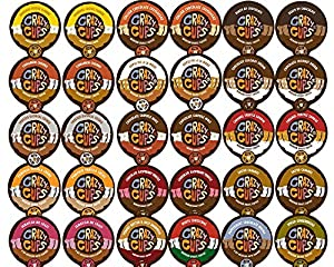 Crazy Cups Flavored Coffee Single Serve Cups for Keurig K Cups Brewer Variety Pack Sampler