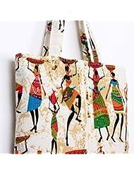 Magideal Ethnic Indian Women Pattern Cotton Cloth Bag Tote Bag Shoulder Bag