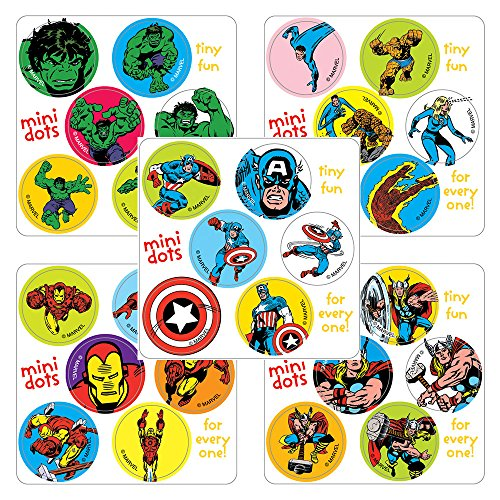 Marvel Mini Dot Assortment Stickers - Birthday Party Favors - 450 per pack