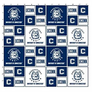cotton college university of connecticut uconn huskies team sports cotton fabric. Black Bedroom Furniture Sets. Home Design Ideas