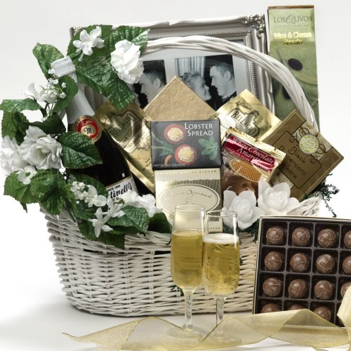 Art of Appreciation Gift Baskets Best Wishes To You Wedding Gourmet Food Gift Basket, Large