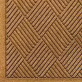 "Andersen 221 Waterhog Fashion Diamond Polypropylene Fiber Entrance Indoor Floor Mat, SBR Rubber Backing, 12.2' Length x 4' Width, 1/4"" Thick, Gold"