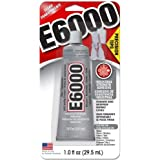 E6000 231020 Adhesive with Precision Tips, 1.0 fl oz, 4 Pack (Tamaño: 4 Pack)