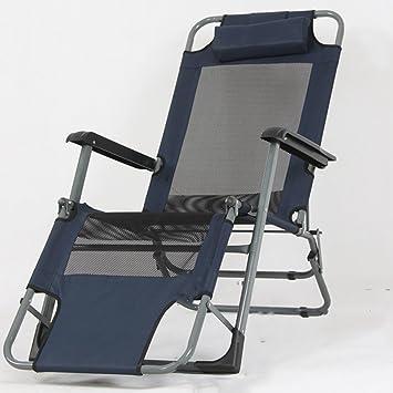 Ali Klappstuhl / Nachmittagsstuhl / Liegestuhl / Klappnapf Sessel / Balkon Stuhle / Couch ( Farbe : Marine )