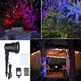 SROCKER XL32 Garden Laser Light Moving RGB Romantic Waterproof Outdoor Decorative Landscape Lawn Light Tree Light with Remote Control for Holiday, Party, Wedding, Disco (Moving RGB)