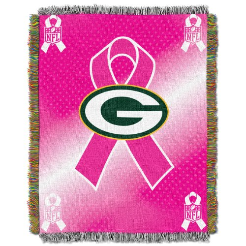 NFL Green Bay Packers Breast Cancer Awareness Tapestry