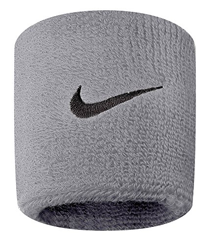 Nike Swoosh Wristbands (Grey Heather/Black, Osfm) (Cool Sweat Bands compare prices)