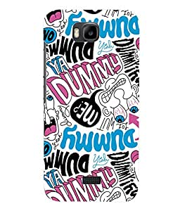 Fuson 3D Printed Typography Designer Back Case Cover for Huawei Honor Bee - D1037