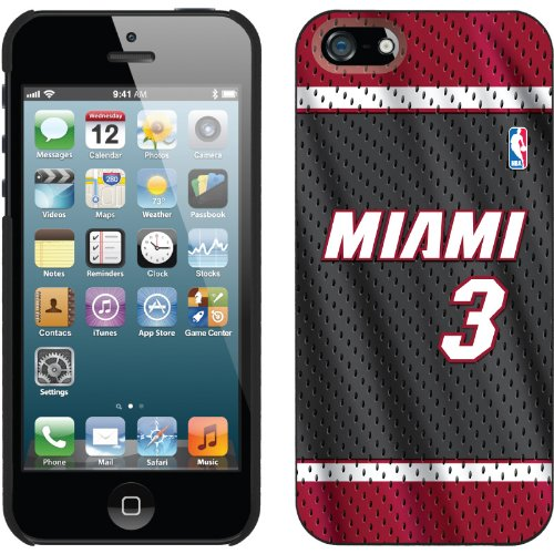 Great Price Dwyane Wade - Road Jersey Front design on a Black iPhone 5s / 5 Thinshield Snap-On Case by Coveroo
