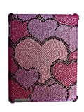 Aquarius Premium Diamonte for Apple iPad 2 with Screen Guard and Smart Cover Slot - Hearts Medley