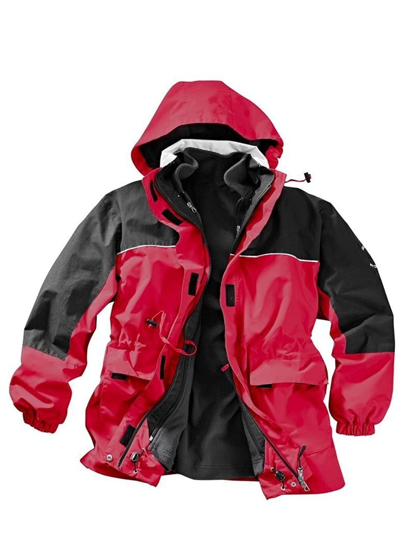 Damen Winter Funktionsjacke Outdoor Jacke Bicolor Rot-Schwarz günstig bestellen