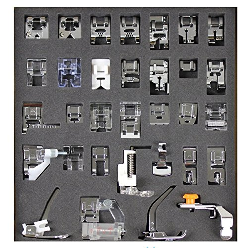 Tinksky A 32pcs macchina per cucire domestica piede piedino Set di per Babylock fratello nuova casa Janome Elna Toyata Singer nuovahome
