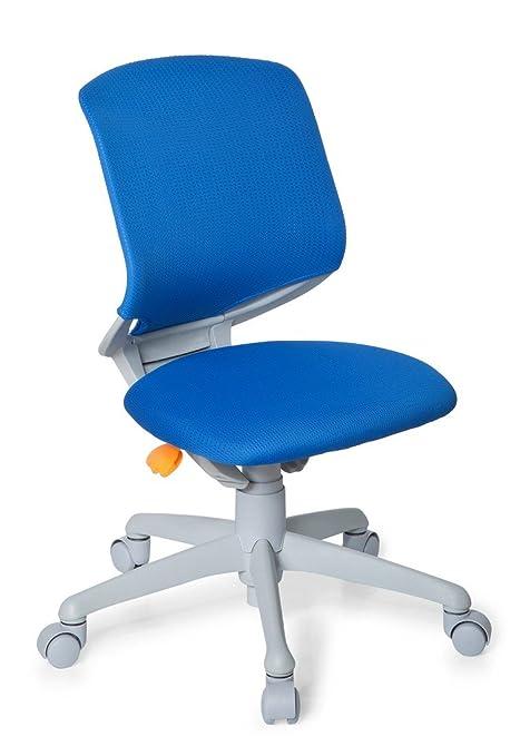 hjh OFFICE KID MOVE GREY - Silla giratoria para niños, color azul y gris