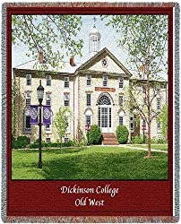 Dickinson College Old West Throw - 70 x 54 Blanket/Throw
