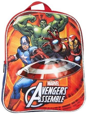 Marvel Little Boys' Avengers Mini Backpack, Navy/Red, One Size