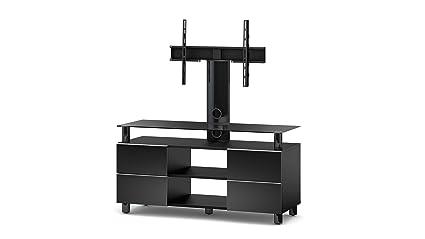 Sonorous TRN3214 B-BLK TV-Möbel fur 50 Zoll Fernseher, Holz, schwarz, 45 x 120 x 60 cm