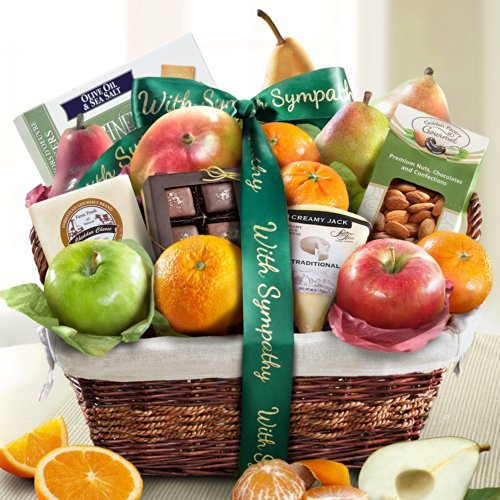 Golden State Fruit Deluxe Gift Basket, Sympathy