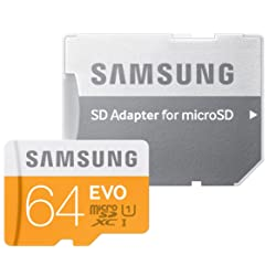 Samsung Evo 64GB UHS-I / U1 316x SDXC Memory Card (Orange)