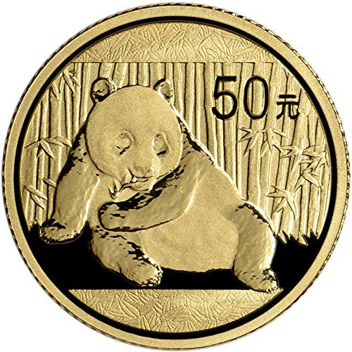 2015 CN China Gold Panda (1/10 oz) 50 Yn BU China Mint