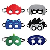 Keklle Cartoon Hero PJ Masks Party Supplies Dress Up Costumes Set of 6 Masks For Kids (Color: Multicolored, Tamaño: Large)