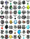 (20 Beads Mix) Pack of Assorted Silve…