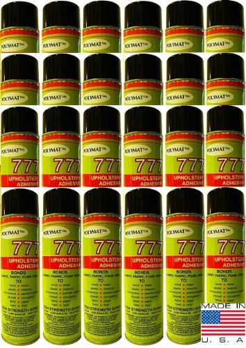 24 Cans Of Polymat 777 Foam Speaker Box Carpet Car Auto Liner And Fabric Spray Glue Adhesive