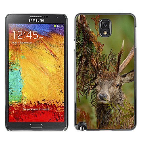 Omega Case Strong & Slim Polycarbonate Cover - Samsung Galaxy Note 3 Iii ( Funny Majestic Stag )
