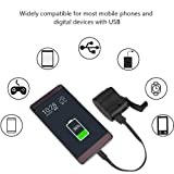 Fosa Universal Portable Emergency Hand Power Dynamo Hand Crank USB Charger for Travel, Outdoor(Black)
