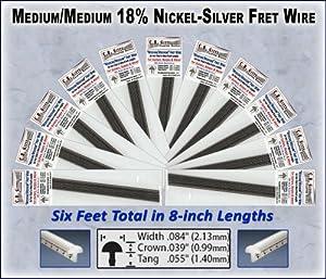 guitar fret wire standard medium medium size six feet musical instruments. Black Bedroom Furniture Sets. Home Design Ideas