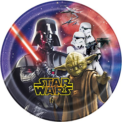Star Wars 7 Inch Paper Plates [8 Per Pack] - 1