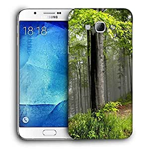 Snoogg Green Leaves Printed Protective Phone Back Case Cover For Samsung Galaxy Note 5