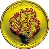 バンクーバー2010冬季オリンピック公式記念コイン・最終販売<カラー金貨・聖火>CC1G90028