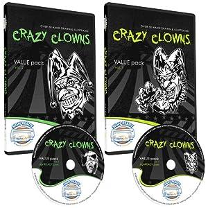 Crazy Clowns Clipart-Vinyl Cutter Plotter Clip Art Images-Sign Design Vector Art Graphics CD-ROM (Volumes 1+2) from Sign Ready Vector Art