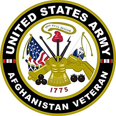 """1-Pc Profound Modern United States Army Afghanistan Veteran Stickers Sign Military Vinyl Bumper Size 4"""" x 4"""""""