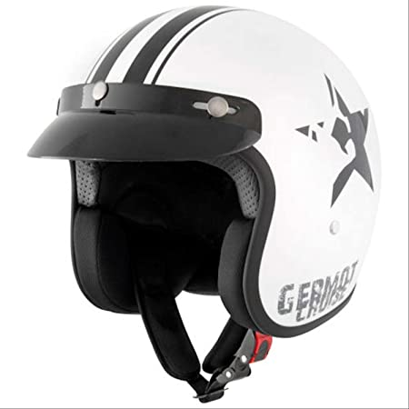 GERMOT gM 77 sTAR casque jet blanc/noir