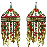 DollsofIndia 2 Cloth Wall Hangings With Bead Work (Show Piece) 7x3x3 Inches Each - B01D1LTHLC