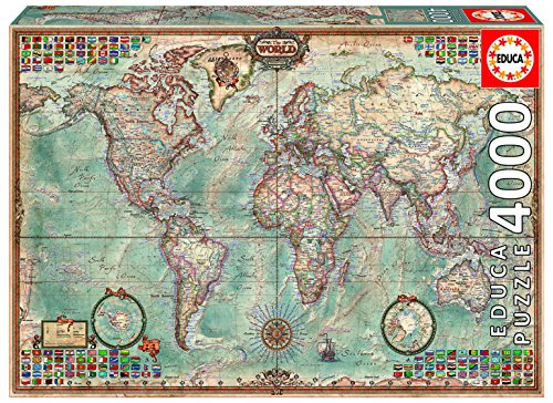 4,000 Piece Puzzle - The World Map