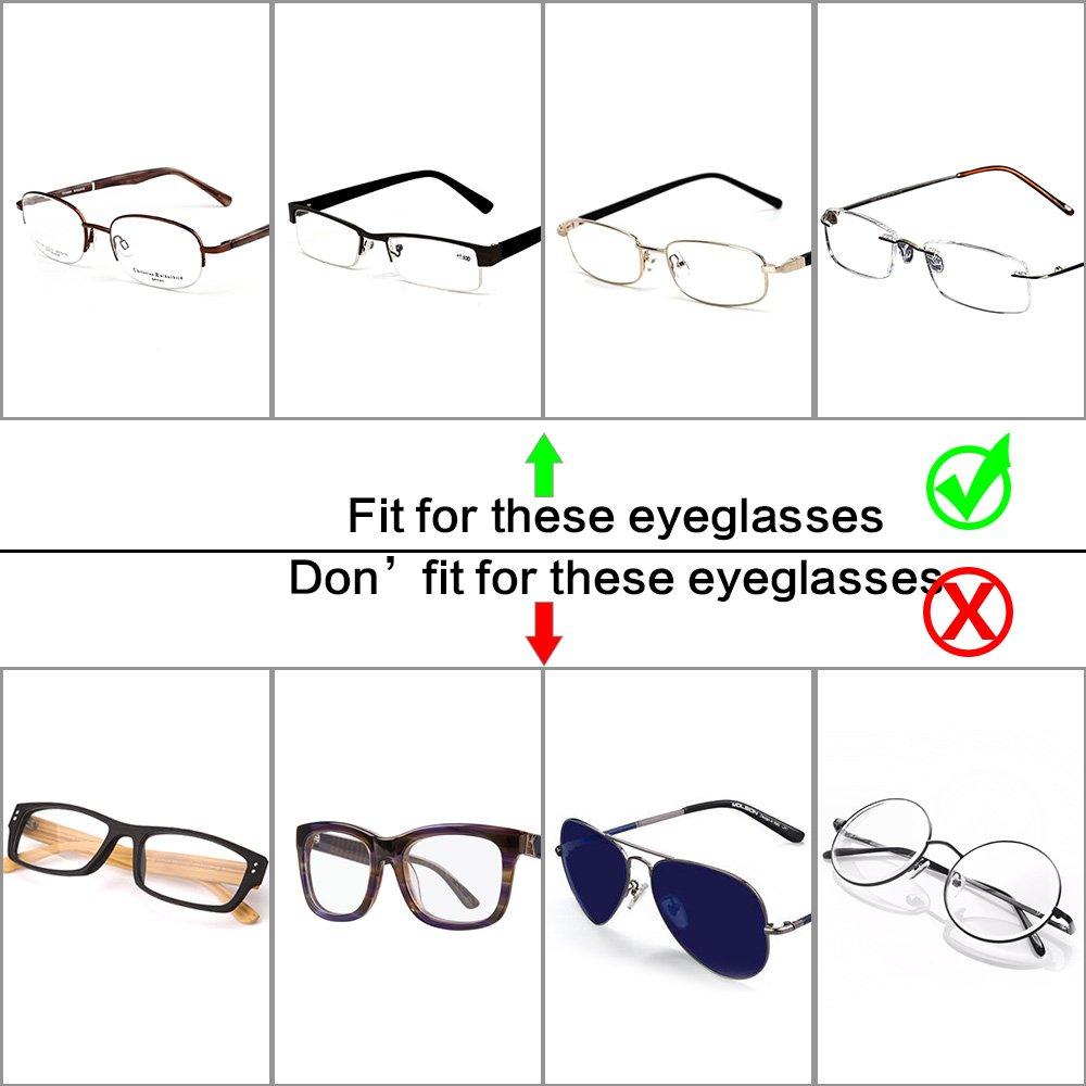 Folding Eyeglasses Case,Ezeso Portable Ultralight Retro Spectacles Box For Men Women 2