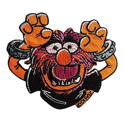 Iron on patches - The Muppets Animal Disney Comic children - orange - 8,6x7,3cm - Application Embroided patch badges
