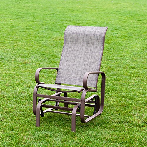 Outdoor Patio Rocker Chair, Balcony Glider Rocking Lounge Chair ...