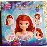 Disney Ariel The Little Mermaid Styling Doll Head with 8 Piece Hair Accessories
