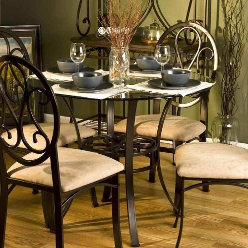 Southern Enterprises Lucianna Dining withGlass
