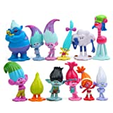 Evursua DreamWorks Movie Trolls Toys Figures Set of 12,Mini Trolls Poppy Doll Cake Toppers for Kids Party Favors,Poppy,Branch,Troll (Tamaño: X-Small)