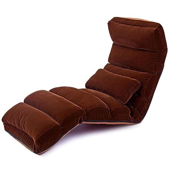 Letto divano letto Tatami Sedia pieghevole Poltrona letto a sdraio Sedia da gioco galleggiante Sedia da gioco Sedia pieghevole semplice 175cm * 56cm , brown